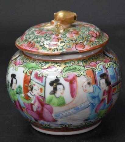Canton porcelain head to head service (light shine on the milk jug and 1 shine on...