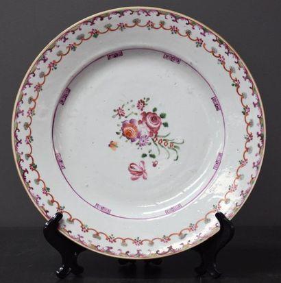 Assiette en porcelaine de Chine de la Compagnie...