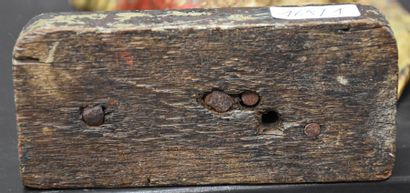 Saint Eloi. Carved and polychromed wood. German work circa 1600. Ht 42 cm .