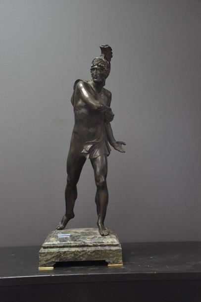 Bronze néo classique au guerrier romain ....