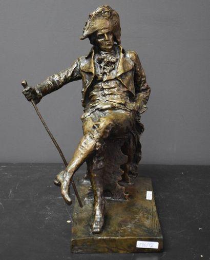Bronze de la Comédie Dell Arte , sujet bicorne...