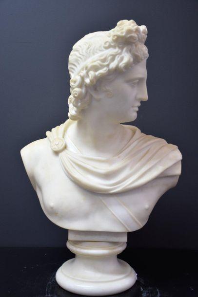 Antonio FRILLI (c.1880-1920). Buste d'Apollon...