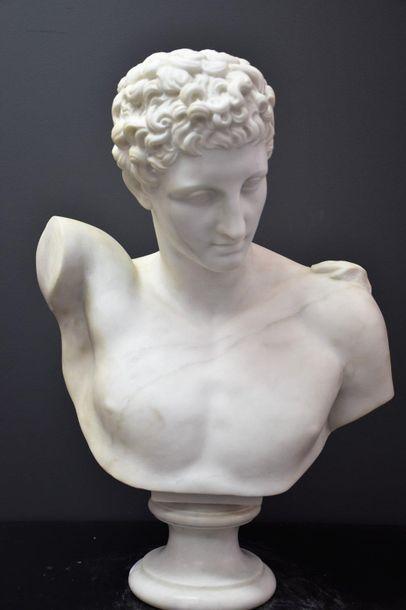 Antonio FRILLI (c.1880-1920). Buste en marbre...