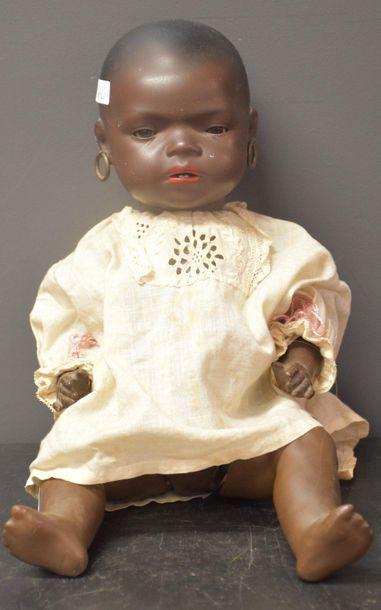 Poupée Heubach, petite africaine, tête en...