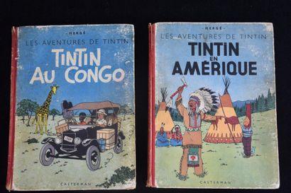 Lot de 2 Tintin noirs et blanc :