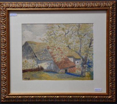 Anna Boch ( 1848 - 1936 ) . Aquarelle .