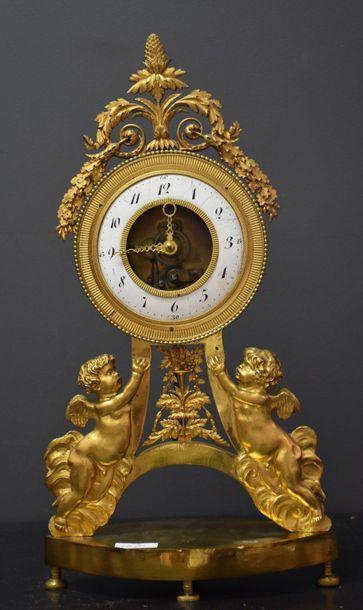 Pendule d'époque Louis XVI à mouvement squelette...