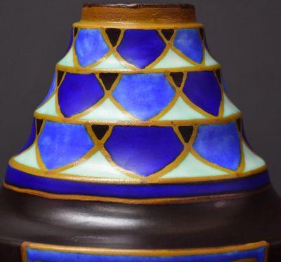 Vase boch keramis signé Vittorio Bonuzzi pour Charles Catteau . D 1505 . Pièce introuvable...