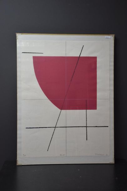 Jo Delahaut ( 1911 - 1992 ) . Estampe multiple...