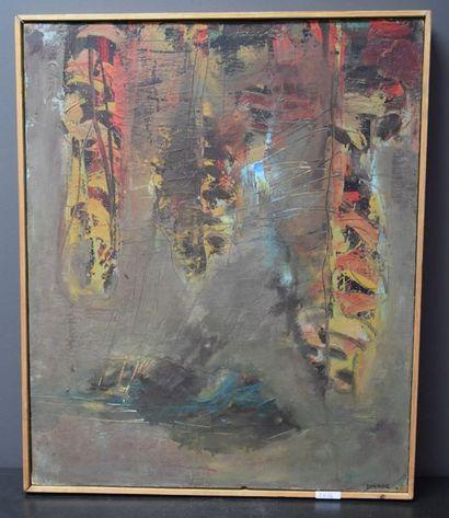 Joe Downing ( 1925 - 2007 ) . Huile sur toile...