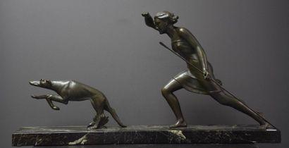 Salvatore Melani ( 1902-1934 ). Bronze art...