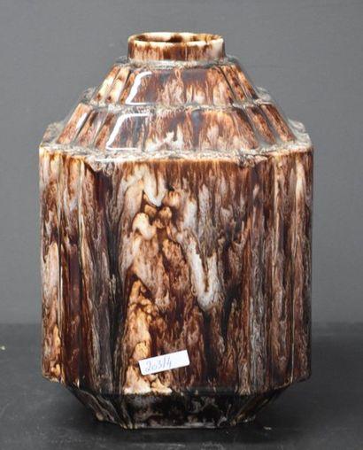 Vase Boch Keramis géométrique monochrome...