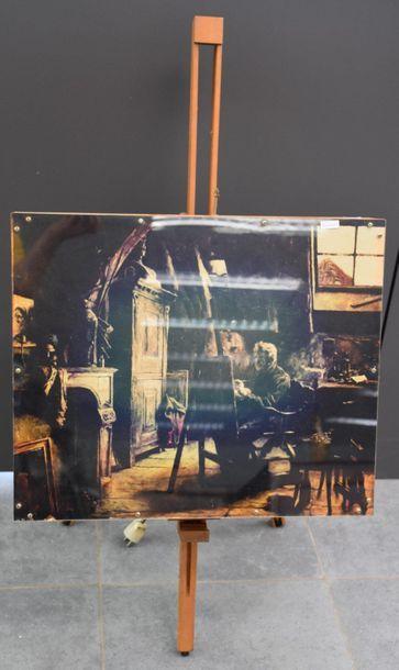 Patrick Raynaud ( 1946 ) . Lampe sur fond...
