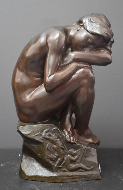 Henri Boncquet ( 1868 - 1908 ) . Bronze symboliste...