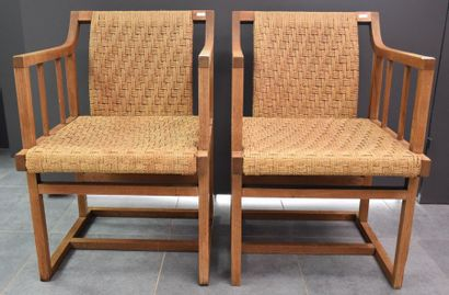 Paire de fauteuils art nouveau autrichien...