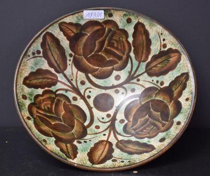 Coupe Boch keramis à décor mat de fleurs...