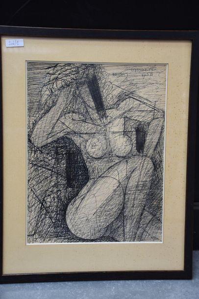 Marcel Gromaire ( 1892 - 1971 ) . Nu féminin,...