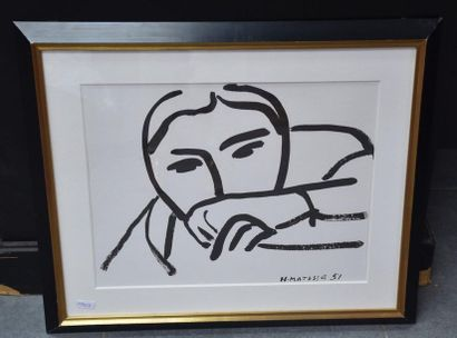Henri Matisse ( 1896-1954 ), lithographie...