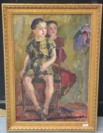 Evgenia Antipova ( 1917 ) . Huile sur toile...