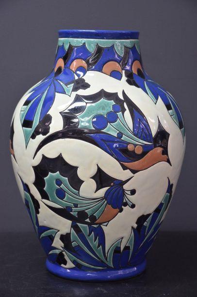Jules Chaput. Vase boch keramis. Pièce unique...