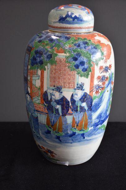 Pot à gingembre en porcelaine de Chine à...