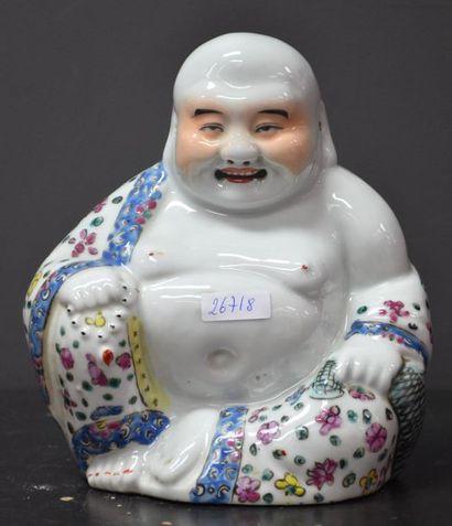 Bouddha rieur en porcelaine de Chine vers...