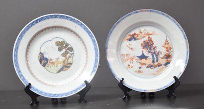 Lot de 2 assiettes en porcelaine de Chine...