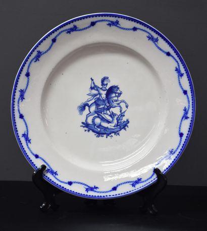 Assiette en porcelaine de tournai à décor...