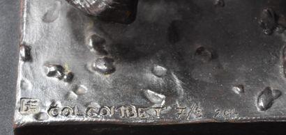 Damien Colcombet ( 1967 - ) Damien Colcombet ( 1967 - ). Imposant groupe en bronze...