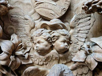 Aubert Parent (1754-1835) Parent AUBERT (1754-1835). Exceptionnel médaillon en tilleul...