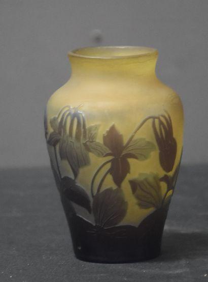 Emile Gallé (1846-1904). Petit Vase art nouveau...