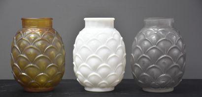 Lot de 3 vases