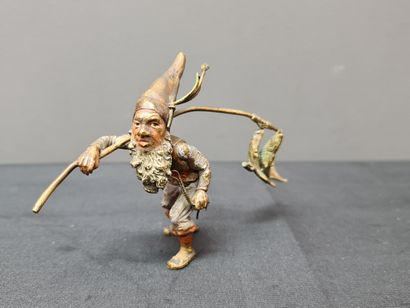 Bronze de Vienne, le nain pêcheur de carpes....