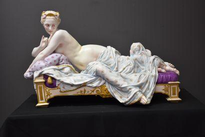 Importante sculpture en porcelaine d'Andenne...