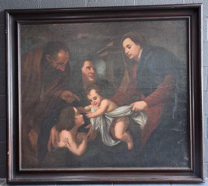 Sainte famille école italienne XVII ème siècle....