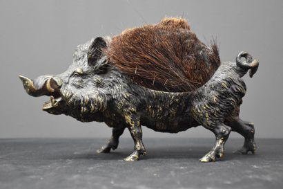 Essuie-plumes en bronze de Vienne représentant...