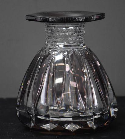 Vase art déco en cristal du Val Saint Lambert,...
