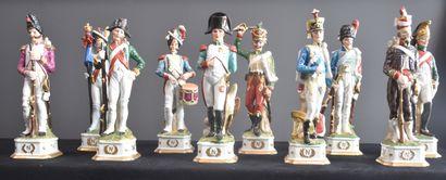 Collection de soldats en porcelaine représentant...