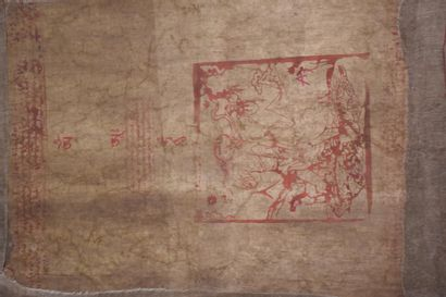 Tibetan Tangka 106 x 80 cm. early 20th century.