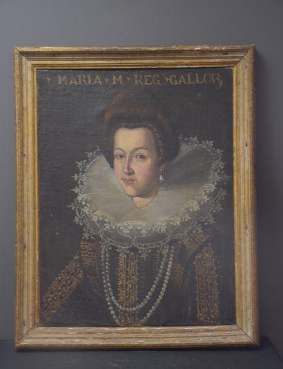 Portrait présumé de Marie de Médicis, huile...