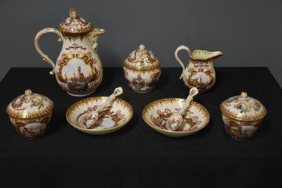Service tête à tête en porcelaine Meissen...