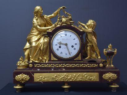 Importante pendule d'époque Louis XVI en...