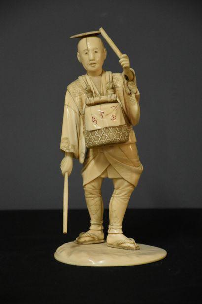 Okimino en ivoire signé. Japon XIX ème. Ht...