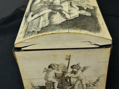 Ferdinand Pogliani (1832-1899). Exceptional box circa 1860 entirely veneered with...