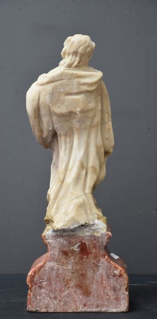Baroque sculpture in alabaster XVII th century. Accidents and missing parts. Height...