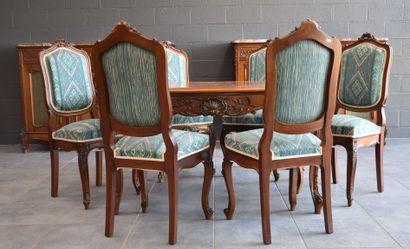 Salle à manger 9 pièces de style Louis XV...