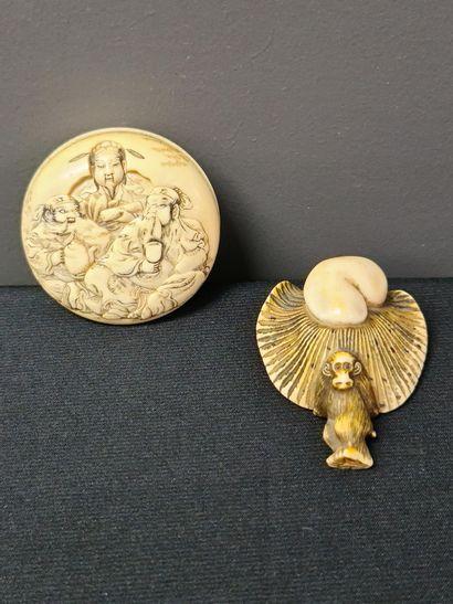 Netsuké en ivoire du Japon,