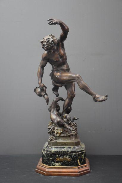 Sculpture en régule, Bacchus pour une allégorie...