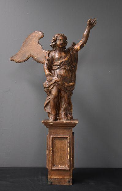 Bois sculpté baroque vers XVIII ème siècle....