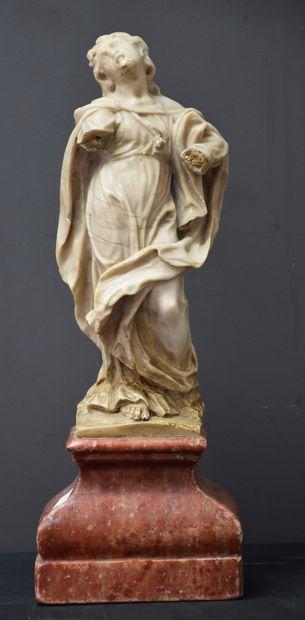 Sculpture baroque en albâtre XVII ème siècle....